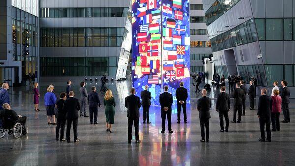 Участники саммита НАТО в штаб-квартире в Брюсселе
