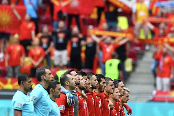 Футболисты сборной Северной Македонии