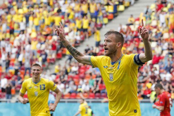 Нападающий сборной Украины по футболу Андрей Ярмоленко