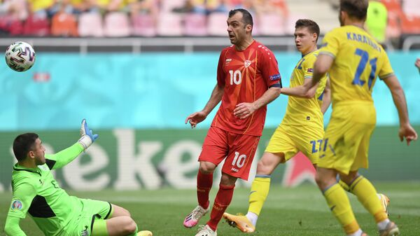 Нападающий сборной Северной Македонии Горан Пандев
