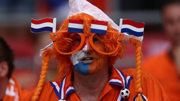 Болельщик сборной Нидерландов по футболу