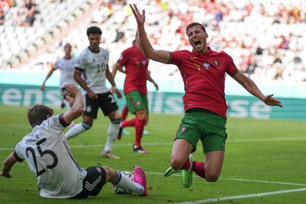 Игровой момент матча Португалия - Германия