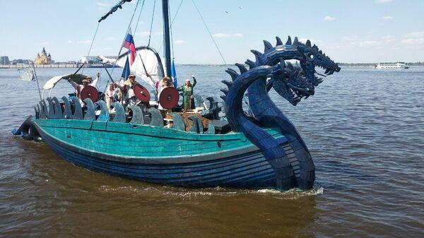 Ладья Змей Горыныч пришла в Нижний Новгород после экспедиции на Балтику
