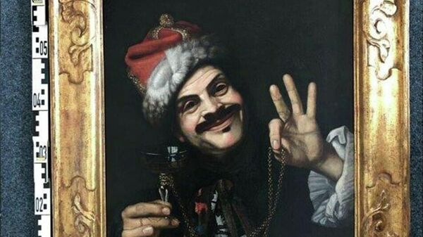 Автопортрет художника Пьетро Беллотти, одна из двух картин 17 века, найденных в придорожном контейнере в Германии