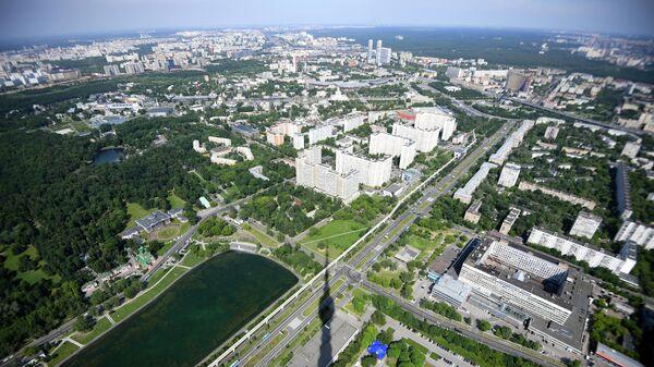 Вид со смотровой площадки Останкинской телебашни