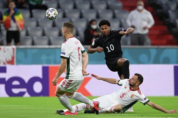 Игровой момент матча Германия - Венгрия