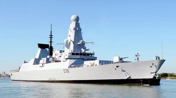 Эсминец Defender Королевских ВМС Великобритании