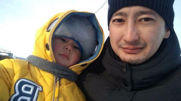 Муса Тынысов с сыном Амилем