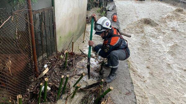 Последствия ливня в Ялте