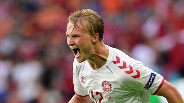 Нападающий сборной Дании по футболу Каспер Дольберг