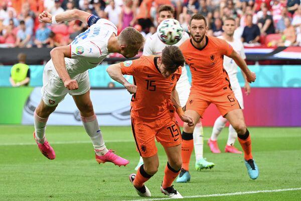 Игровой момент матча Нидерланды - Чехия