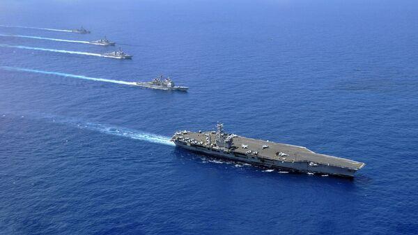 Авианосная группа 7-го флота ВМС США в Южно-Китайском море