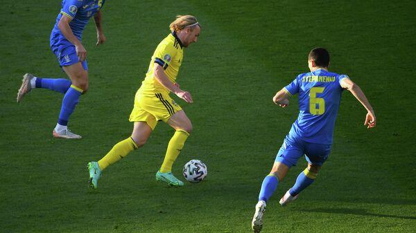 Эпизод матча Швеция - Украина