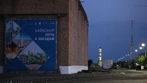 Ракета-носитель Союз-2.1а с грузовым кораблем Прогресс МС-17 на стартовой площадке космодрома Байконур.