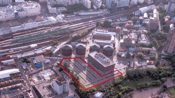 Территория бывшего Московского газового завода, где будет построен бизнес-центр