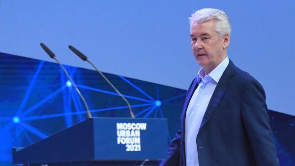 Мэр Москвы Сергей Собянин на форуме Moscow Urban Forum 2021 в парке Зарядье