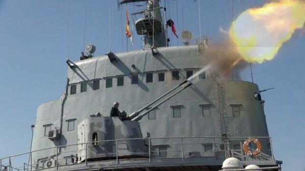 Артиллерийские стрельбы Российского Черноморского флота