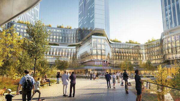 Проект многофункционального жилого кластера в районе Хорошево-Мневники в Москве
