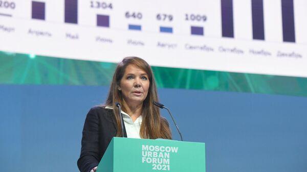 Заместитель мэра Москвы в правительстве Москвы по вопросам социального развития Анастасия Ракова на форуме Moscow Urban Forum 2021
