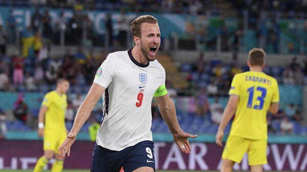 Капитан сборной Англии Харри Кейн в матче со сборной Украины