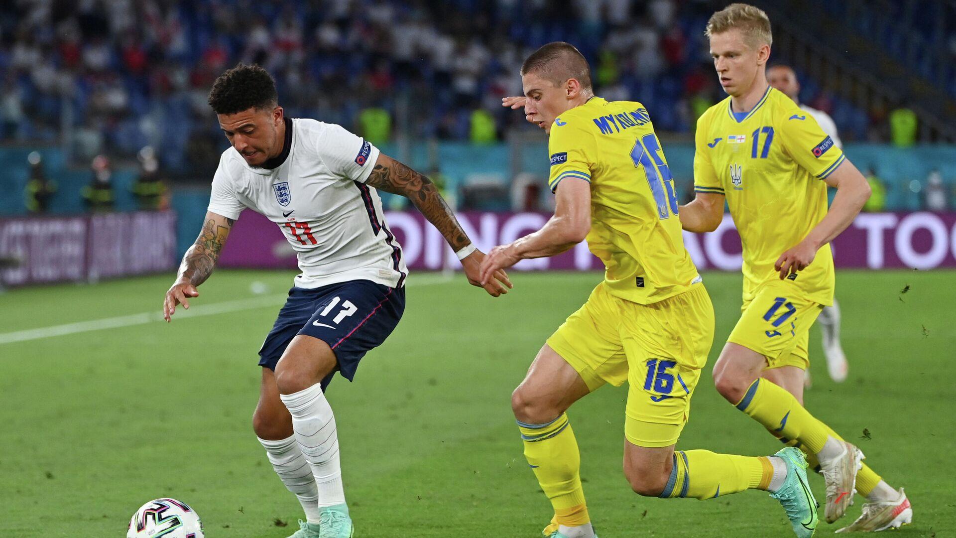 Эпизод матча Украина - Англия на ЕВРО-2020 - РИА Новости, 1920, 04.07.2021