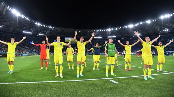 Футболисты сборной Украины после матча с Англией