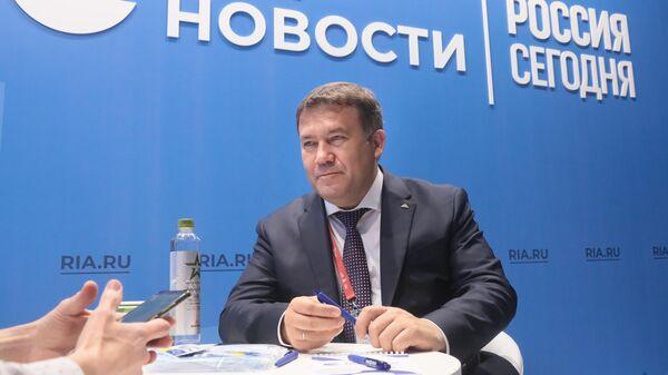 Генеральный директор судостроительной корпорации Ак Барс Ренат Мистахов на стенде МИА Россия сегодня