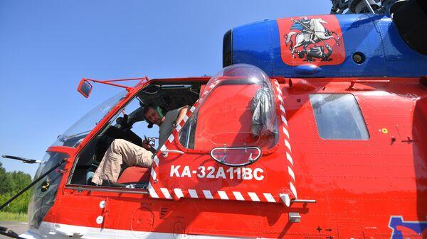 Вертолеты МАЦ мониторят пожароопасную обстановку