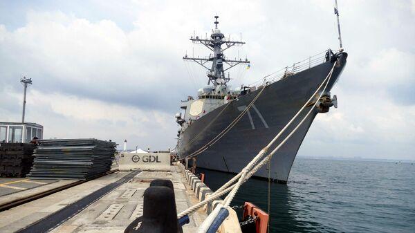 Эсминец ВМС США Росс у причала в Одессе