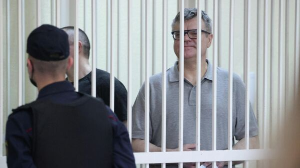 Виктор Бабарико в суде во время оглашения приговора