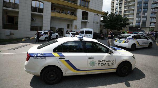Сотрудники полиции Украины в Киеве