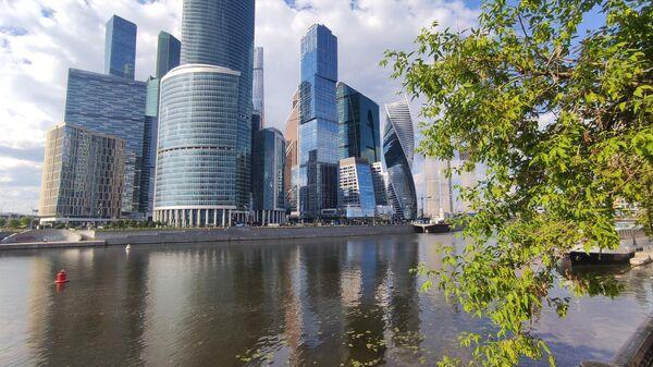 Московский международный деловой центр Москва-Сити (ММДЦ) на набережной Тараса Шевченко в Москве