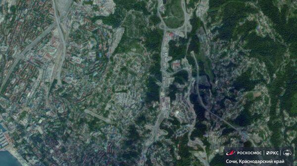 Спутниковые снимки подтопленного из-за дождей Сочи