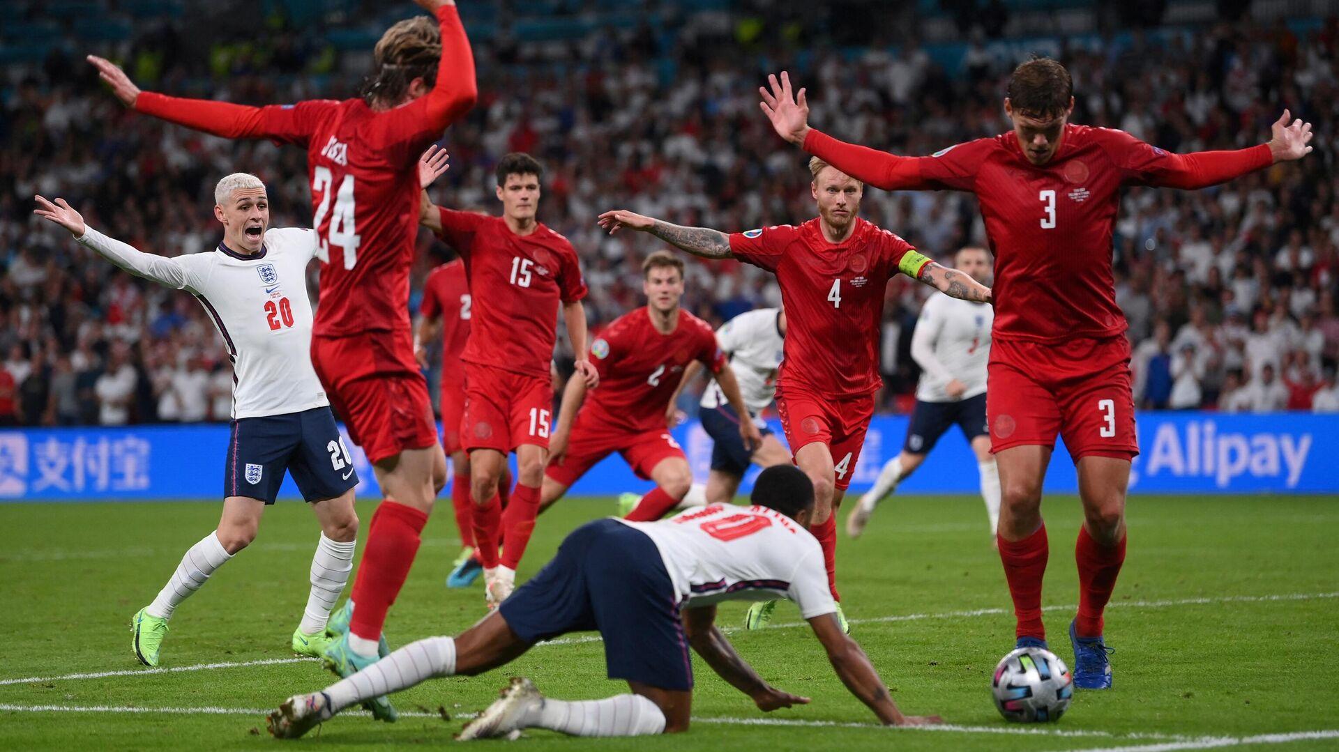 Игровой момент матча Англия - Дания - РИА Новости, 1920, 08.07.2021