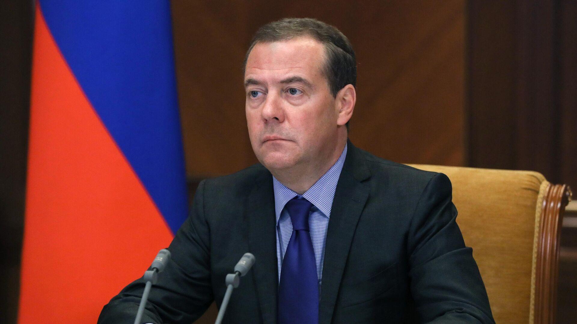 Заместитель председателя Совета безопасности РФ Дмитрий Медведев - РИА Новости, 1920, 28.09.2021