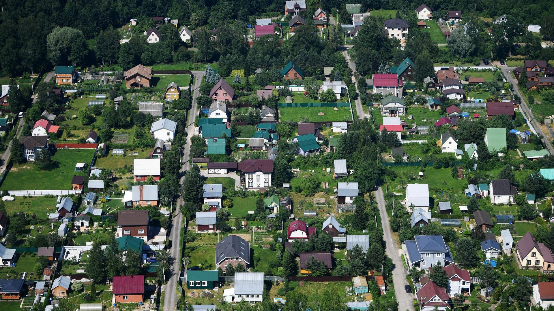 Вид на дома в садовом товариществе - РИА Новости, 1920, 07.09.2021