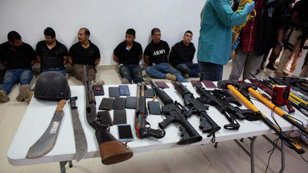 Подозреваемые в убийстве президента Гаити Жовенеля Моиза в Генеральном управлении полиции в Порт-о-Пренсе