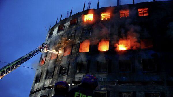 Пожар на фабрике в Рупгандже, Бангладеш
