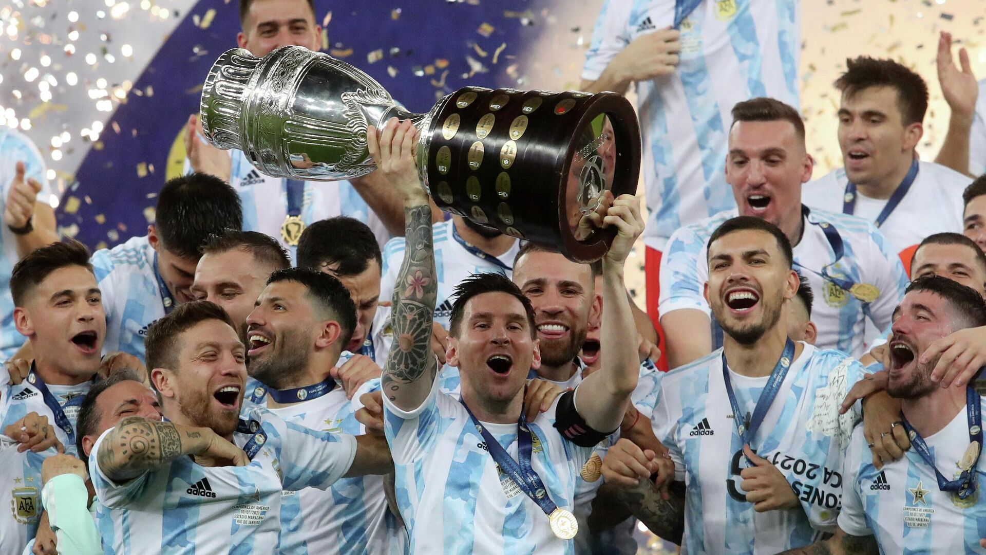 Сборная Аргентины - победитель Кубка Америки - РИА Новости, 1920, 11.07.2021
