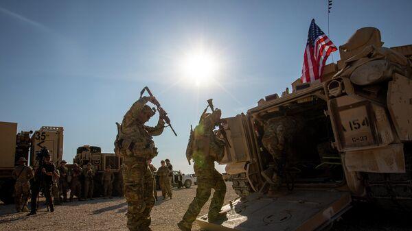 Солдаты на военной базе США В Сирии