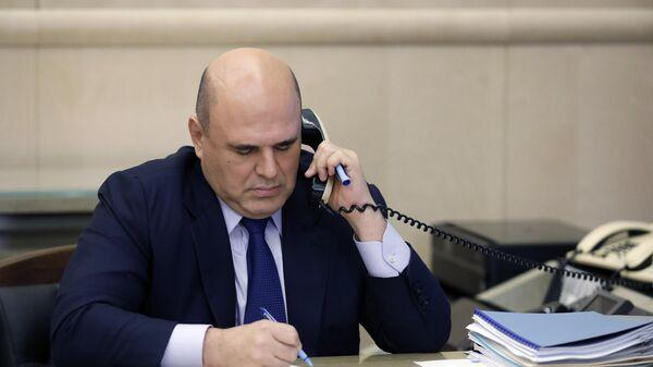 Председатель правительства РФ Михаил Мишустин проводит совещание с вице-премьерами РФ в режиме видеоконференции