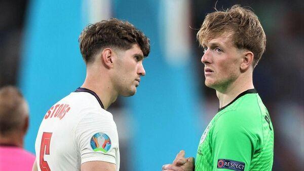 Футболисты сборной Англии после поражения в финале ЕВРО-2020