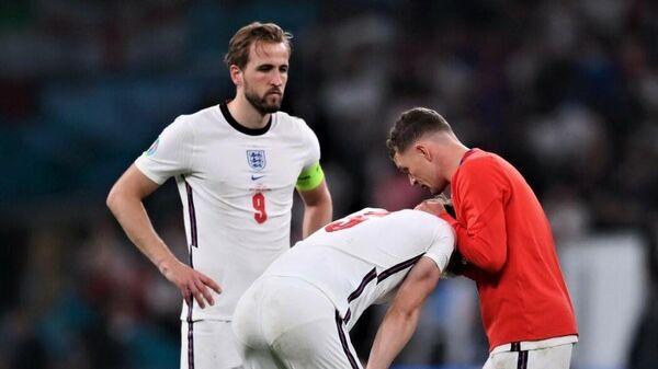 Сборная Англии после проигранного финала ЕВРО-2020