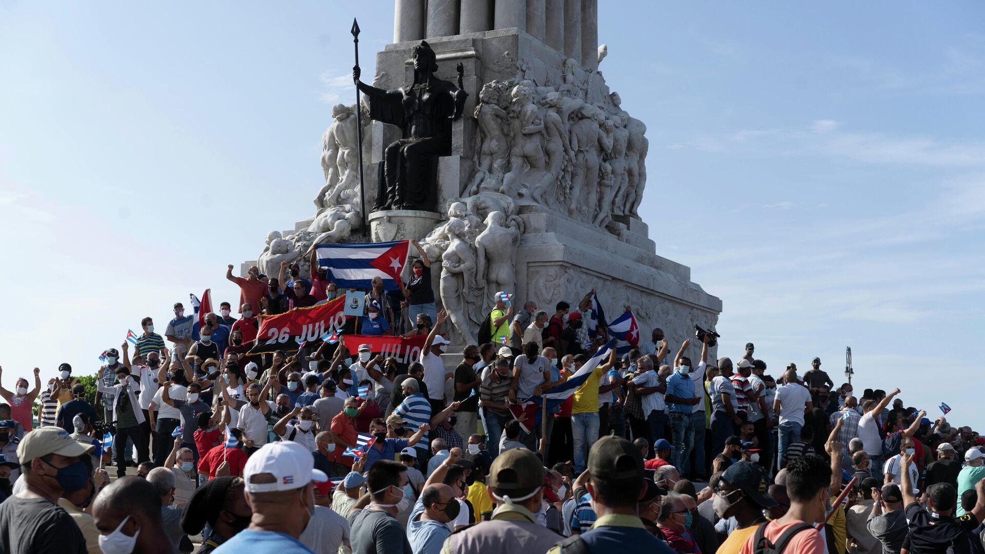 Акция протеста в Гаване - РИА Новости, 1920, 15.07.2021