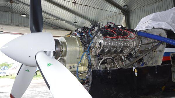 Установка двигателя-демонстратора АПД-500, установленного на самолет Як-18Т