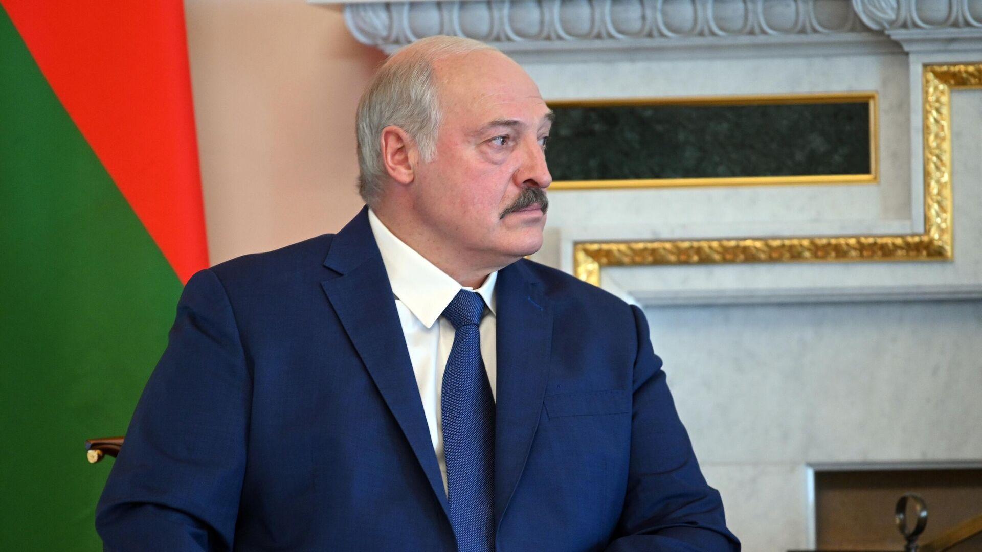 Президент Белоруссии Александр Лукашенко во время встречи с президентом РФ Владимиром Путиным - РИА Новости, 1920, 29.07.2021