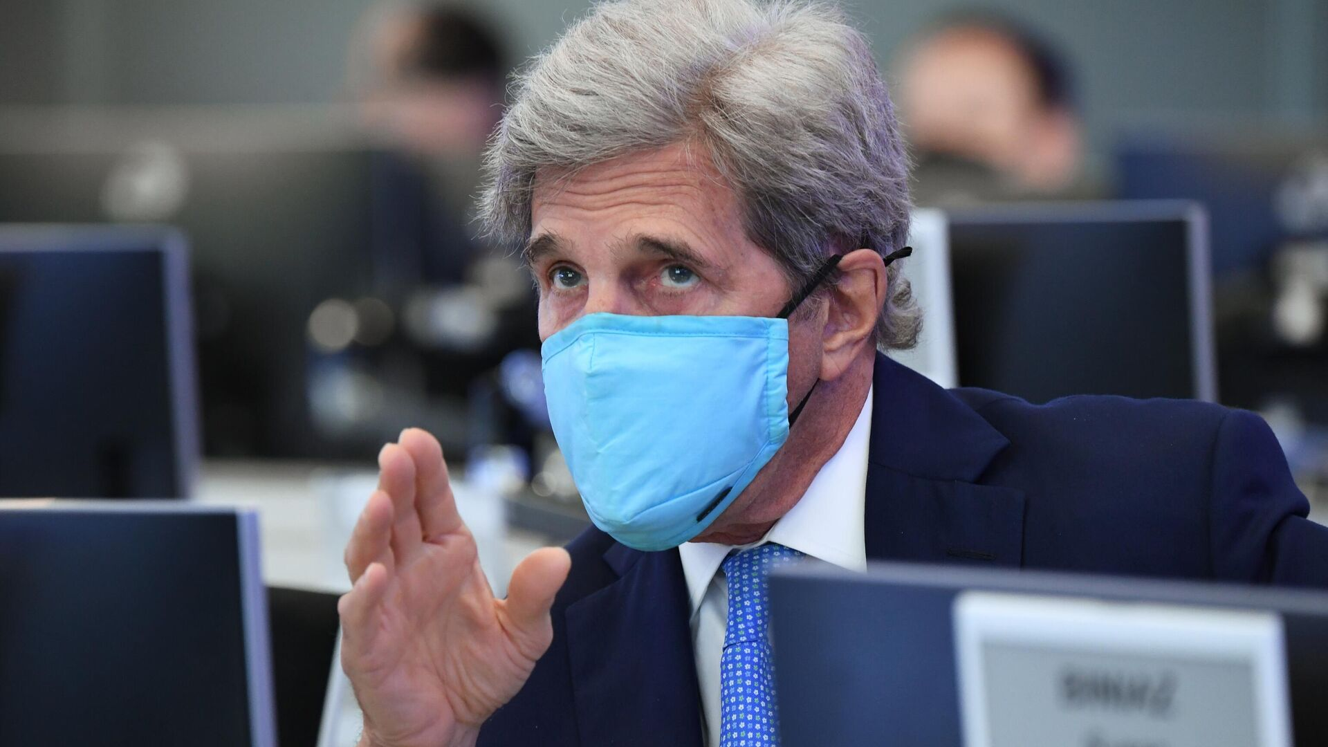Специальный представитель президента США по вопросам климата Джон Керри в координационном центре при правительстве РФ - РИА Новости, 1920, 16.07.2021