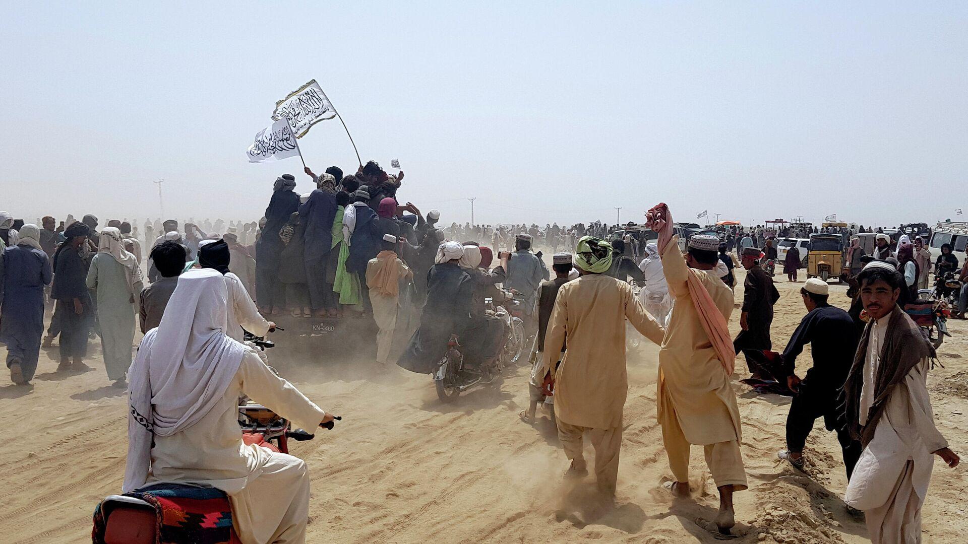 Сторонники Талибана* на границе Афганистана и Пакистана - РИА Новости, 1920, 04.08.2021