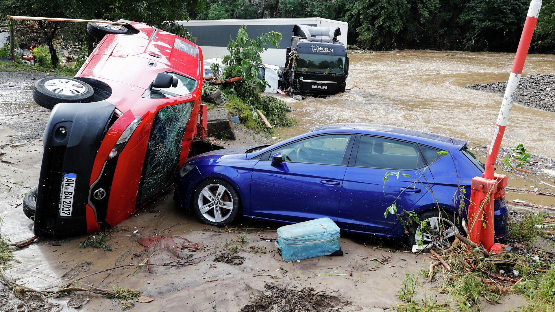 Последствия наводнения в Шульде, Германия - РИА Новости, 1920, 17.07.2021