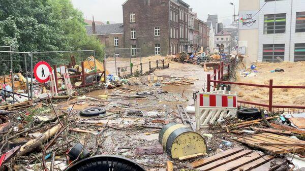 Последствия наводнения в Вервье, Бельгия